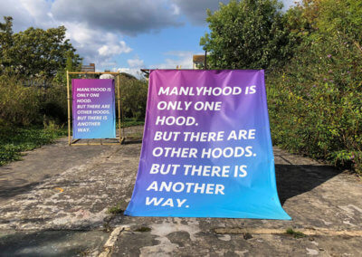© Tom Cardew_Manlyhood is only one hood_The SPACE St Leonards-on-Sea Installation
